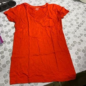 Victoria's Secret Orange Pocket T Short Sleeve